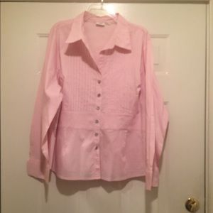 CATO Woman pink quarter sleeve blouse. Size 22-24W